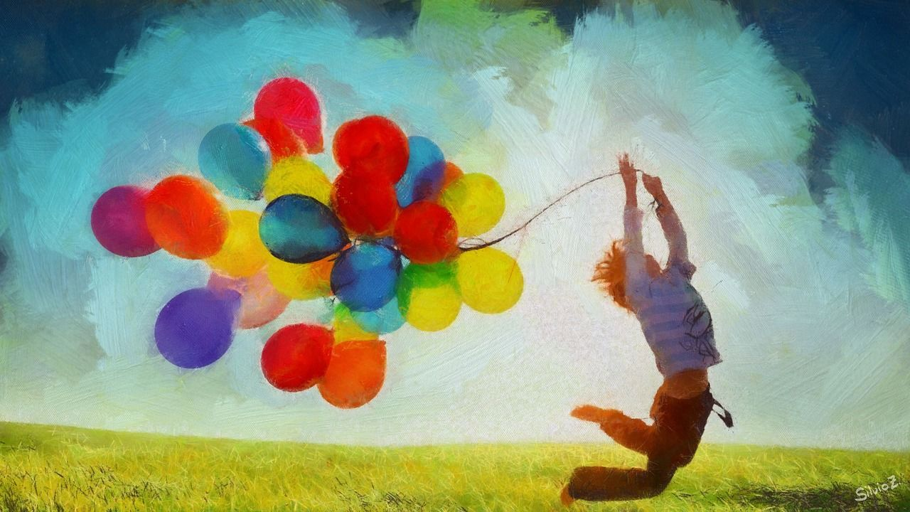 děti balónky EU